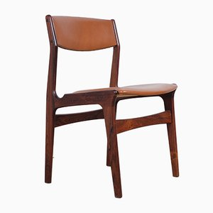 Danish Rosewood & Leatherette Dining Chairs from NOVA, Set of 4