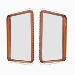 Swedish Mahogony Mirrors, 1950s, Set of 2