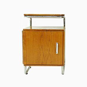 Bauhaus Stahlrohr Nachttisch, 1930er