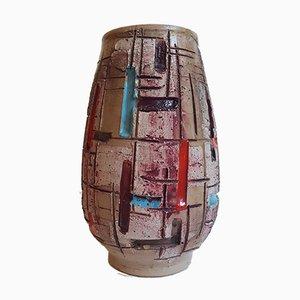 Vaso in ceramica multicolore di Fratelli Fanciullacci, Italia, anni '60