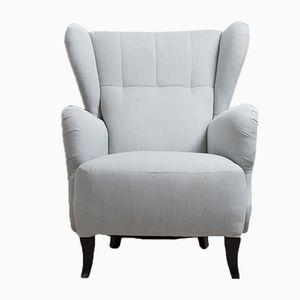 Vintage Scandinavian Armchair in Light Blue