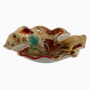 Bol Mid-Century Moucheté Multicolore en Verre Murano