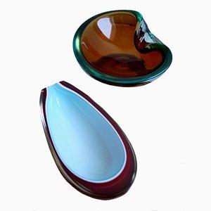 Ciotole in vetro di Murano, anni '60, set di 2
