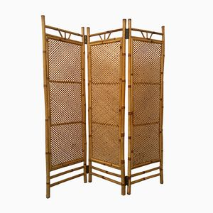 Dutch Rattan and Bamboo Foldable Room Divider, 1960s