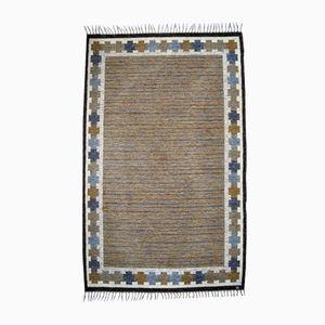 Flachgewebter Rölakan Teppich von Ingegerd Silow, 1960er