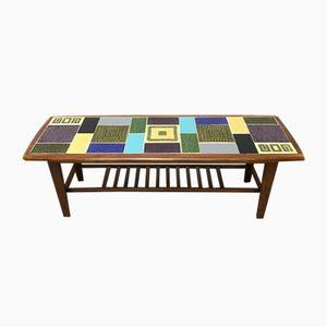 Tavolino da caffè con mattonelle in ceramica di Malkin Johnson, anni '60