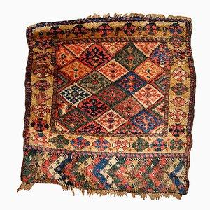 Antiker Handgefertigter Kurdischer Bagface Perser Teppich, 1880er