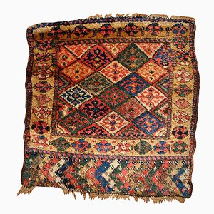 Antique Persian Kurdish Handmade Bagface Rug, 1880s
