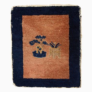 Antiker Handgefertigter Chinesischer Peking Teppich, 1900er