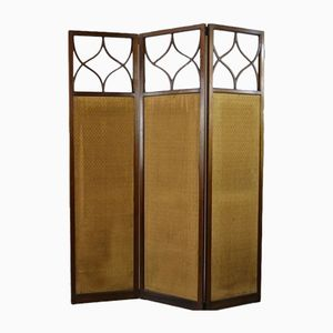Antique Edwardian Mahogany Folding Screen