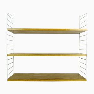 Ash Wall Shelving System by Nisse Strinning for String Design AB, 1960s