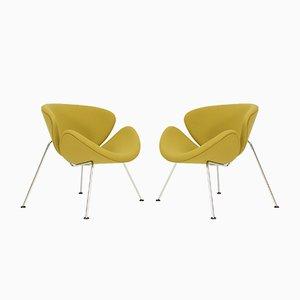 Orange Slicers Sessel von Pierre Paulin für Artifort, 1980er, 2er Set