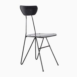 Schwarzer Polnischer Vintage Metall Stuhl