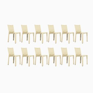 Cab Chairs by Mario Bellini for Cassina, 1980s, Set of 12