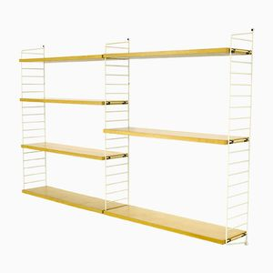 Vintage Ash Veneer Shelving System by Katja & Nisse Strinning for String