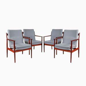 Palisander Konferenz Stühle von Arne Vodder für Sibast, 1960er, 4er Set