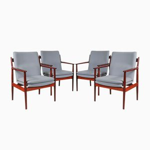 Rosewood Conference Chairs by Arne Vodder for Sibast, 1960s, Set of 4