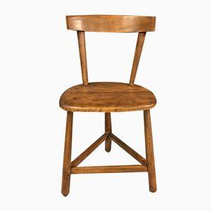 Dreibeiniger Vintage Stuhl aus Heimischem Buchenholz