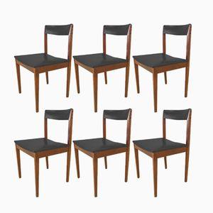 Scandinavian Chairs in Rosewood, 1950s, Set of 6
