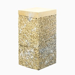 Gold Metal Rock S4 Side Table by Michael Young for Veerle Verbakel Gallery, 2016