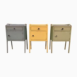 Colorful Metal Cabinets, 1950s, Set of 3