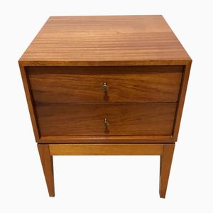 Walnut Bedside Table by Peter Hayward for Uniflex, 1960s