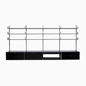 Black Vintage 606 Shelving System by Dieter Rams for Vitsoe