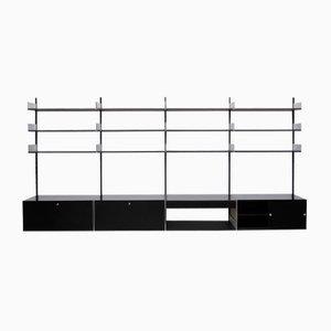 black vintage 606 shelving system by dieter rams for vitsoe