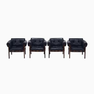 Mid-Century Club Chairs by Arne Norell for Coja, 1960s, Set of 4