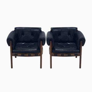 Club chair Mid-Century di Arne Norell per Coja, anni '60, set di 2