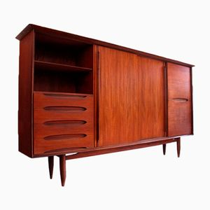 Large German Vintage Highboard in Teak