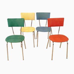 Bunte Vintage Stühle, 1950er, 4er Set