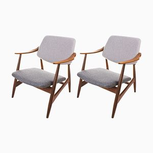 Mid-Century Easy Chairs, Set of 2