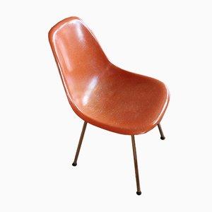 Korallenroter Vintage Beistellstuhl von Charles & Ray Eames für Herman Miller