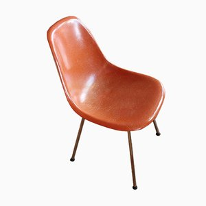Vintage Coral-Colored Side Chair by Charles & Ray Eames for Herman Miller