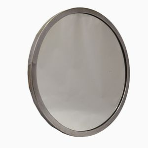 French Brass & Chrome Plated Wall Mirror, 1930s