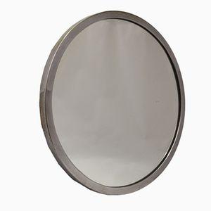 Specchio in ottone e metallo cromato, Francia, anni '30