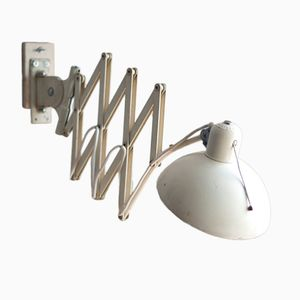 Grande Lampe à Ciseaux Modèle 6614 Vintage Couleur Crème de Christian Dell pour Kaiser Idell
