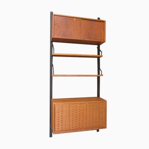 Mid-Century Wall Unit in Teak by Poul Cadovius for Cado, 1960s