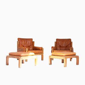 Modell S15 Sessel und Hocker von Pierre Chapo für Seltz, 1960er, 2er Set
