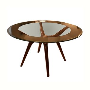 American Walnut Round Table, 1950s