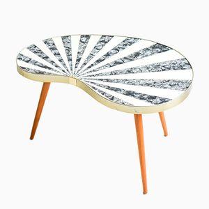 Nierenförmiger Vintage Mid-Century Modern Zebra Dreibein Tisch, 1960er