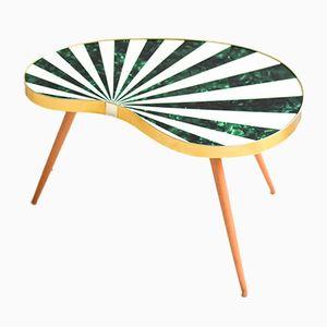 Mid-Century Modern Zebra Dreibein Tisch in Nierenform, 1960er