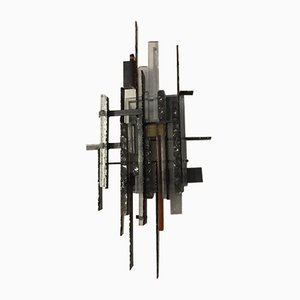 Italian Large Vintage Brutalist Wall Light from Poliarte, 1970s