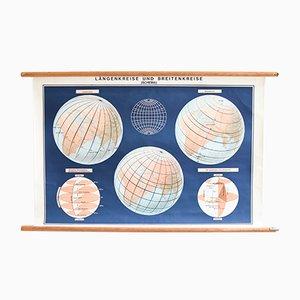 Weltkarte Lehrtafel, 1960er