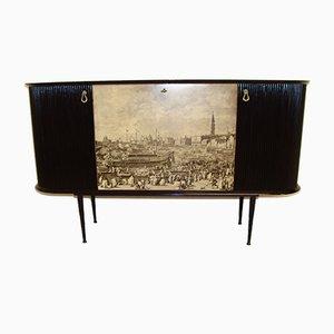 Mid-Century Venetian Bar Cabinet by Vittorio Dassi, 1950s