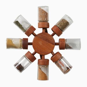 Danish Teak and Glass Spice Rack form Digsmed, 1960s