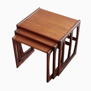 Vintage Teak Nesting Tables from G-Plan, Set of 3