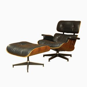 Model 670 & 671 Rosewood Lounge Chair & Ottoman by Charles & Ray Eames for Herman Miller, 1956