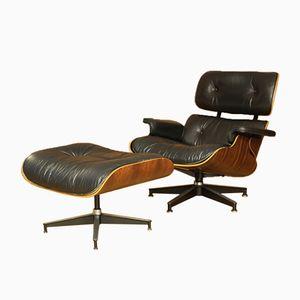Modell 670 & 671 Palisander Sessel & Ottomane von Charles & Ray Eames für Herman Miller, 1956